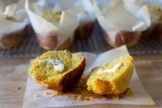 Golden, craggy, towering but tender corn muffins from smitten kitchen Coconut Muffins, Corn Muffins, Cornbread Muffins, Dinner Rolls, Citrus Lemon, Yogurt, Biscuits, Muffin Bread, Smitten Kitchen