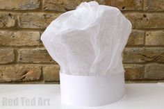 Paper Chef's Hat DIY Instructions - Red Ted Art - Make crafting with kids easy & fun Easy Crafts For Kids, Diy For Kids, Summer Crafts, Pancake Day Crafts, Paper Chef Hats, Homemade Squishies, Chef Hats For Kids, St Patricks Day Hat, Chef Costume