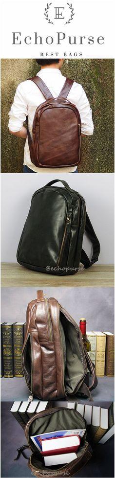 New Arrivel Oil Wax Leather Travel Backpack, Shoulder Bag, Computer Bag 0013