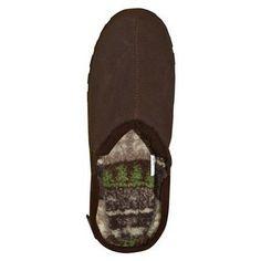 Men's Muk Luks Berber Suede Clog Slippers - Brown 11, Durable