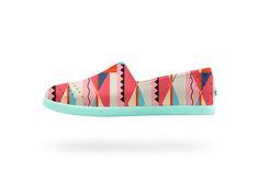 Verona Print Kids - Snapper Red / Biggie Print | Native Shoes — Keep it Lite