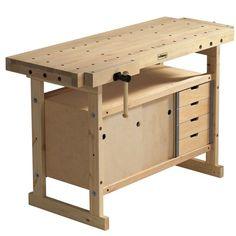 Sjobergs Nordic Plus 1450 Wood Top Workbench with Storage Cabinet and Accessory Kit Sjobergs Workbench, Workbench With Storage, Industrial Workbench, Locker Storage, Workbench Ideas, Workbench Organization, Folding Workbench, Workbench Drawers, Diy Locker