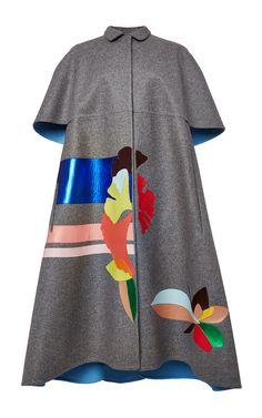 Double Faced Wool Cape by DELPOZO for Preorder on Moda Operandi