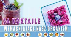 36 koktajle wzmacniające nasz organizm – odchudzający, odmładzający, oczyszczający organizm z toksyn – Motywator Dietetyczny Nutella, Raspberry, Smoothie, Fruit, Breakfast, Drinks, Cooking, Sweet, Recipes