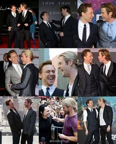 They are brothers and no one can convince me otherwise loki Marvel E Dc, Disney Marvel, Marvel Universe, Chris Hemsworth Funny, Thor X Loki, British Boys, Nerd Love, Married Woman, Tom Hiddleston Loki