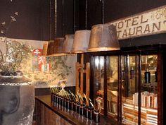 Primitive Lighting, Vintage Industrial Lighting, Vintage Industrial Furniture, Industrial Pendant Lights, Industrial House, Bucket Light, Cool Lighting, Lighting Ideas, Metal Building Homes