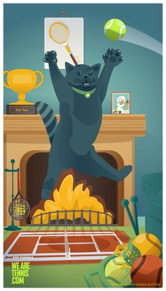 #tenniseveryday :: Cat smash :: #RG14 w/ @We Are Tennis