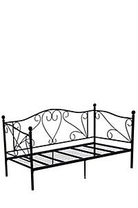 SCROLL METAL DAY BED