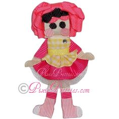Pink Cookie Oopsy Girl Ribbon Sculpture