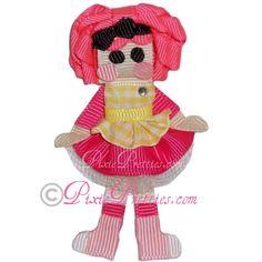 Pink Cookie Oopsy Girl Ribbon Sculpture