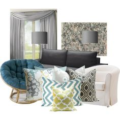 Grey And Teal Living Room grey, teal & ochre scheme for a family living room. | home