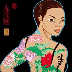 Auspicious Flower Charm Tattoo, painting by Kate Beynon - From Watercolours to Decorative Arts - Culture Victoria Charm Tattoo, Natural Dog Food, Cultural Identity, Best Homemade Dog Food, Art Decor, Art Projects, Art Photography, Art Gallery, Culture