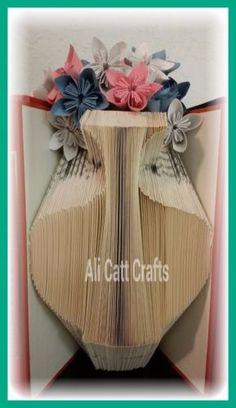 Vase-Book-folding-pattern