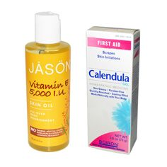 """- """"I use vitamin E oil everywhere when my skin is super dry—I put it on my elbows, knees, even on my face. I also loveBoiron calendula gel, which speeds up recovery time for minor cuts and scars."""""""