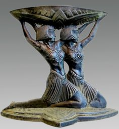 """During the Italian Renaissance """"Egyptomania"""" resurfaced again when ancient Roman artifacts reflecting an interest in Egyptian culture along with actual Egyptian artifacts were discovered Art Deco Stil, Art Deco Home, Art Nouveau, Roman Artifacts, Incense Burner, Arts And Crafts Movement, Art Deco Design, Ancient Romans, Art Deco Fashion"""