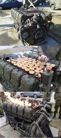 Barbecue Grill made from a Leopard 1 Tank Engine...