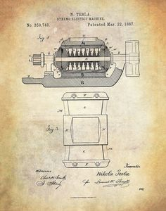 Dynamo-Electric Machine Vintage Drawing, Electric, Etsy, House