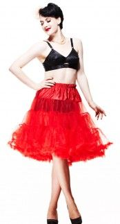 New barbie petticoats tea length or full length red
