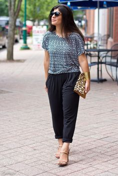 black slouchy pants outfits - Google Search