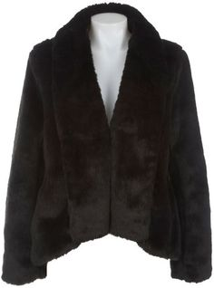 Misses KC Collections Open Front Faux Fur Jacket $30.00
