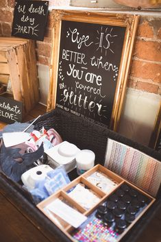 A glitter/ tattoo station next to the photo booth Festival Garden Party, Festival Themed Party, Festival Wedding, Our Wedding, Wedding Venues, Barn Weddings, Wedding Themes, Wedding Ideas, Tattoo Station