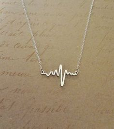 Beautiful Jewelry Electrocardiogram EKG Rhythm Heart Beat Necklace- Simplistically Beautiful and a wonderful statement on many levels. Perfect for anyone in the medical field or who appreciates anatomy! Cute Jewelry, Jewelry Box, Jewelry Necklaces, Gold Jewelry, Purple Jewelry, Chanel Jewelry, Diamond Necklaces, Diamond Jewellery, Dainty Jewelry