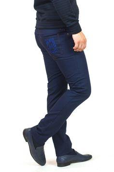 b95c69b9149a34 Чоловічі #джинси з вишивкою MAKSYMIV Н-016-1. Міцна тканина 100% бавовна.  Стильний звужений до низу силует SlimFit. #Штани