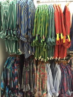 Stripes and plaids in tons of colors available at American Soul - can be dressed up or down.