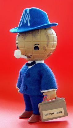 """messemaennchen """"convention man"""" figure (1964)"""