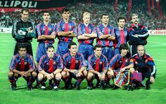 Final Champions, Estadio de Atenas, 18-5-1994, AC Milan, 4- FC Barcelona, 0. Zubizarreta, Guardiola, Nadal, Koeman, Stoitchkov, Begiristain, Romario, Ferrer, Amor, Sergi, Bakero.