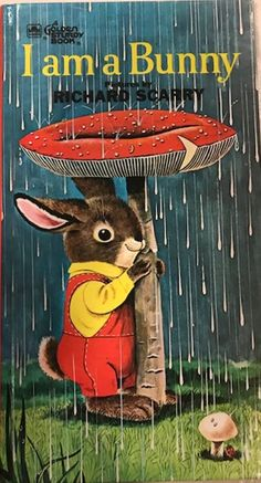 Book is written by Ole Risom, with wonderful illustrations by Richard Scarry. Illustrated by Richard Scarry. I am a Bunny. Richard Scarry, Bunny Book, Easter Books, Vintage Children's Books, Vintage Kids, Little Golden Books, Children's Book Illustration, Book Illustrations, My Childhood