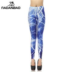 New Arrival Legins Brand Blue Lightning 3D Digital Leggins Printed Woman Leggings Women Pants Like and share this pure awesomeness! Visit us