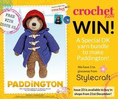 Win a Crochet Yarn Bundle to make Paddington!