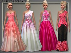 All About Style: The Holidays Gowns • Sims 4 Downloads