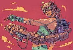 • Illustration art fav future scifi science fiction Robot cyberpunk Futuristic artbook dystopia josan gonzalez the FUTURE is NOW kogaionon •