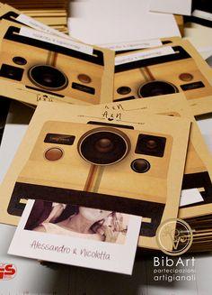 Partecipazione invito polaroid /wedding camera