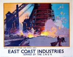 Frank Mason East coast industries blast furnace poster