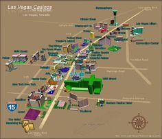 Hotels On The Strip Las Vegas Map.Vegas Strip And Downtown Map Las Vegas Blvd Las Vegas Nevada