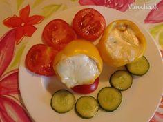 Tvarohovo-syrové pečené papriky - Recept