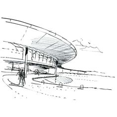 Architectural Sketch | McLaren Technology Centre by| Foster + Partners