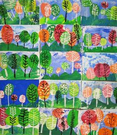 Cassie Stephens: In the Art Room: First Grade Landscapes