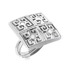 """Silver Ring """"meander"""""""