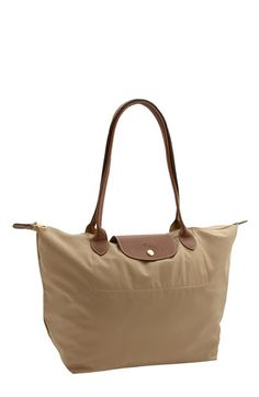 """Longchamp """"large"""" Tote...loved my medium so much I had to spring for a large one in Tan. Huge, and perfect for weekend trips or daily toting of all my stuff!"""