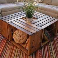 Michael's crate coffee table