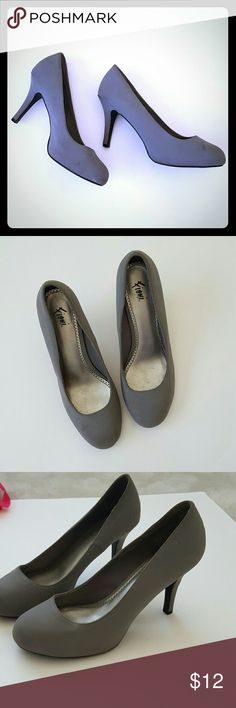 Gray heels! Size 8.5 Good condition gray heels size 8.5. Not worn much. Perfect for a diy sparkle heel project! FIONI Clothing Shoes