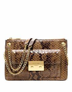 Handbags | Best of Michael Michael Kors | Sloan Flat Leather Crossbody | Lord and Taylor
