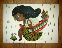 """Isla"" Acrylic on paper. 30x15cmts"