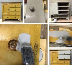 #rinnova vecchi mobili ridipingendoli tutti o in parte con la #VintagePaint di Jeanne d'Arc Living