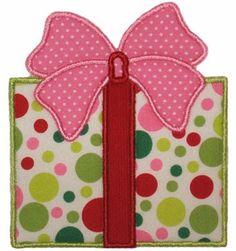 Christmas present applique   Abbie's Applique Design Center: Christmas