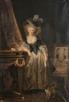 1776 Louise Marie Adélaïde de Bourbon Penthièvre, duchesse d'Orléans by Louis Alexandre Hesse after Charles Lepeintre (Versailles) Photo - Gérard Blot